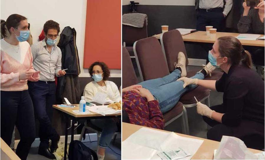 Marjorie SCHWARTZ, Dr Jimmy GROSS et Valérie TOUATI-GROSS en Formation Hypnoanalgésie à Paris. Une formation pratico-pratique